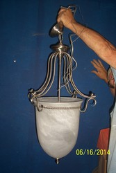 chandelier 3 for sale chrome nickle finish with white marbled frosted